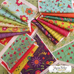 Johanna-Parker-Garden-Delights-Large-Swatches (Johanna Parker Design) Tags: johannaparker surfacedesign illustration pattern patterndesign graphicdesign fabric giftwrap wallpaper whimsical swatch sewcute sew johannaparkerdesign floral flowers hummingbird