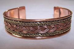 SOLID COPPER TWO TONE CUFFED HEALTH BRACELET men women ladies jewelry braclet (trolleytrends) Tags: bracelet braclet copper cuffed health jewelry ladies solid tone women