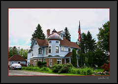 House with Turret (the Gallopping Geezer '4.8' million + views....) Tags: building structure smalltown rural backroads backroad mi michigan upperpeninsula roadtrip canon 5d3 tamron 28300 geezer 2016 dwelling house home turret fancy northernmichigan upnorth