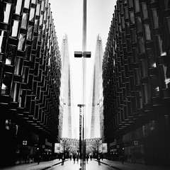 XIII (Theo Brainin) Tags: city bw white black reflection london monochrome thames river nikon southbank reflect nikkor d600