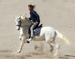 IMG_0123-3 Michaela and Estimado - Seen On Explore - 2013-05-21 # 33 (jaro-es) Tags: espaa beach canon caballo spain playa explore pferd spanien platja spanelsko eos450 mygearandme blinkagain bestofblinkwinners