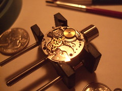 DSCF4300 (bigjohnf1) Tags: macro stem mechanical small watch hobby automatic crown wrist gears making jewel 1965 bulova