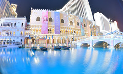 Venetian Night (casaimpression) Tags: city las vegas blue water night photo casino resort sin gondola venetian