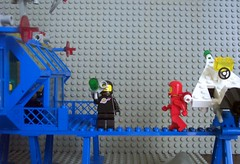 Inter-Galactic Command Base Catwalk (Canticleer Blues) Tags: classic mod lego space plate security crater rocket base command intergalactic 6971