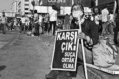 direngezi / occupygezi - 2 (toskallef) Tags: portrait white black blackwhite mask protest gas beyaz ankara portre teargas gezi diren protesto eylem siyahbeyaz kızılay siyah pankart occupy parkı