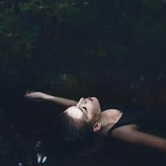 Ophelia. (melancholyellie) Tags: sea lake water girl beautiful beauty dead death scotland model pretty poetry poem underwater natural skin glasgow bare scottish pale swamp freckles melancholy rue murky hamlet drown ophelia mortality murk melancholyellie
