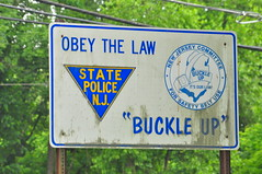 "Obey the Law ""Buckle Up"" (Triborough) Tags: newjersey nj mercercounty statepolice newjerseystatepolice westtrenton njsp"