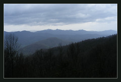 Zicht op de Great Smokey Mountains (annelies_visser) Tags: nature view northcarolina uitzicht greatsmokeymountains appalachen blauwegloed