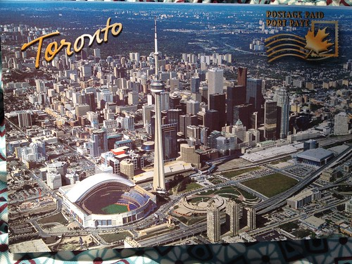 Toronto Aerial View - International Postage Paid Postcard