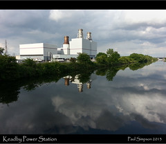 Keadby Power Station (Paul Simpson Photography) Tags: reflection water clouds canal energy gas electricity waterway gasfired northlincolnshire sheffieldandsouthyorkshirenavigation northlincs stainforthandkeadbycanal southyorkshirenavigation keadbycanal paulsimpsonphotography keadbypowerstation samsunggalaxys3