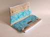 Dual Pocket Wallet Clutch (Stitchin Sista) Tags: blue diy handmade wallet turquoise sewing pouch clutch pocket zakka padded wristlet cardcase carryall zipperpouch purseorganizer checkbookholder doublezipper twinpouch doublezipped
