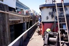 WestStar's Bear Cat Rebuild 6-2013 (daver6sf@yahoo.com) Tags: tugboat sanfranciscobay welders portofsanfrancisco bearcat weststar pier50 weststartug