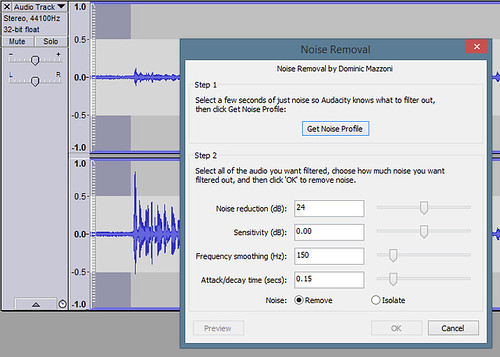 Audacity - Noise Reduction