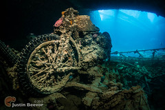 Eleo's bike (Justin Beevor) Tags: underwater redsea egypt bikes wideangle wreck thistlegorm whirlwind scubatravel tornadomarinefleet inons2000 nauticam alexmustardworkshop sonynex6