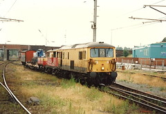 Merseyrail Class 73/9 73901 - Warrington Bank Quay (dwb transport photos) Tags: warrington railway locomotive warringtonbankquay merseyrail electrodiesel 73901