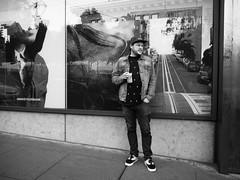 Loitering (jeffm211) Tags: sanfrancisco man reflections candid unionsquare poststreet slidersunday