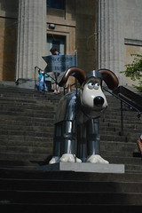 A Knight of the Avon (CoasterMadMatt) Tags: city uk greatbritain summer england southwest west art english season bristol ian photography artwork photos unitedkingdom britain south united great statues kingdom august exhibition trail photographs gb knight british sir figures avon clifton sire sculptures gromit wallaceandgromit marlow aardman unleashed 2013 coastermadmatt ianmarlow gromitunleashed sirgromitofbristol