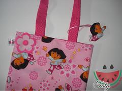 Bolsa Infantil (Taty Fazendo Arte) Tags: flor rosa dora infantil feltro bolsa bolsinha
