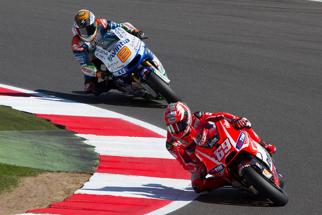 Nicky Hayden and Hector Barbera