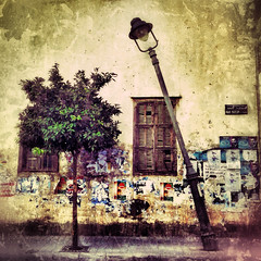 the power of love~ Beirut (~mimo~) Tags: city urban lebanon color tree texture window wall decay grunge lamppost beirut iphone thepoweroflove mimokhair yesouiyeh