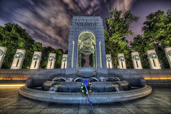 WWII Memorial, Atlantic Arch (D. Scott McLeod) Tags: night washingtondc dc washington districtofcolumbia nikon nationalmall wwiimemorial hdr nationalworldwariimemorial atlanticarch dscottmcleod