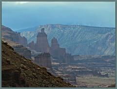 Approaching Fisher Towers (jimsawthat) Tags: rock rural utah erosion highdesert moab geology fishertowers