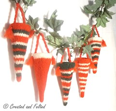 Christmas Candy sweetie cone pattern (Claire Fairall Designs) Tags: christmas wool knitting treats decoration christmastree ornament pdf easy quick cones patternfelt candysweetie