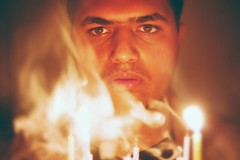 Candle light (aliahmedphotos) Tags: light love me face fire photography amazing candle burn human candel mashallah portriate vew superfadefilter amiing