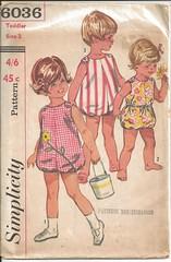 vintage pattern simplicity 6036 toddler romper size2 (saskiastegman) Tags: simplicity romper vintagepattern
