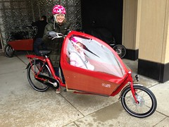 Workcycles Bakfiets (J.C. Lind Bike Co.) Tags: family dutch bike bicycle child transport cargo nutcase schwalbe bakfiets longjohn madeinholland clarijs workcycles