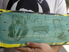 blx deck (Danny Martin art) Tags: tucson skateboard blocks beetlejuice staypuft kurtrussell blx dannymartinart