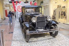 The rare Soviet GAZ-4 car (1936 of release) at an exhibition in the GUM Trading house in Moscow (wws001) Tags: auto black history 1936 gum automobile russia moscow gaz automotive exhibition soviet historical passenger petrol russian antebellum combi rusland ussr prewar moscowregion 2013