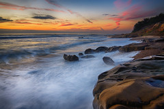 Pescadero Sunset (FeralWhippet) Tags: california longexposure sunset seascape waves waterscape sanmateocounty pescaderobeach thechallengefactory fotocompetition fotocompetitionbronze nikond7000