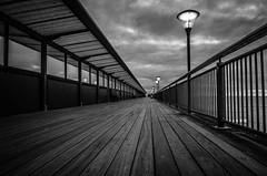 Pier in B&W (Simon Cresdee [www.simoncresdeephotography.com]) Tags: sea sky bw pier nikon south bournemouth boscombe 1685mm d7000