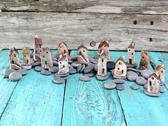 Miniature ceramic houses -group photo (Cherry*Heart) Tags: sculpture house ceramic miniature handmade
