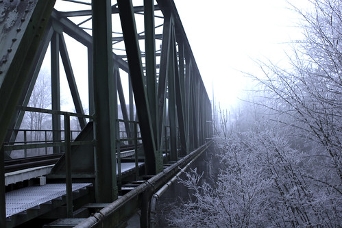 Train Bridge Winter