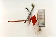 1941   (  1998 ), acier, plexy, cuivre, nylon, film plastique, film mtallique, boulons, peinture. Une partie est mobile. (emmanuelviard75) Tags: films nylon bois mobilit acier cuivre plastiques plexy boulons