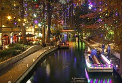 Christmas on the River Walk (PhotosToArtByMike) Tags: christmas decorations sanantonio downtown texas christmasdecorations riverwalk holidaydecor sanantoniotexas sanantonioriverwalk paseodelrio