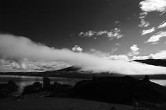 Scotland Loch Ness Urqhart Castle in early morning clouds I (Erzengel69) Tags: castle scotland lochness burg schottland urqhartcastle