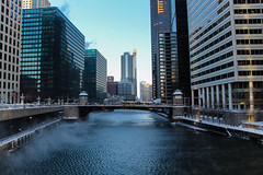 Ice on the edges (aerojad) Tags: winter snow chicago chicagoriver chiberia