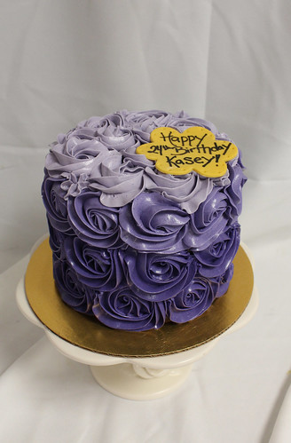 Purple Ombre Rosette