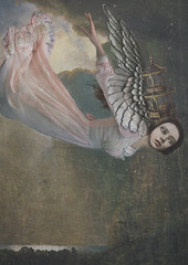 Angel (Sarah Jarrett) Tags: portrait sky illustration surreal fantasy storybook mythology textured storytelling