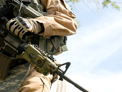 US soldier (zabielin) Tags: usa man male infantry america soldier army holding war uniform power military rifle special human american camouflage weapon service marines combat ammo ammunition gi forces commando warfare