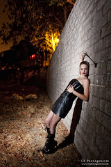 femdom 06 (CE Photogenetix) Tags: light woman sexy beauty leather fashion wall female night fetish dark fire dom femme bricks domination vinyl sm fem brickwall corset ponytail select femdom dominatrix canon40d christinaedwards