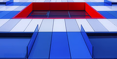 Red Square (AO-photos) Tags: building architecture rouge colours bleu blanc assistance europ gennevilliers