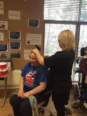 Pam Wilner's charity head shave (Blind Veterans UK) Tags: charity haircut head shaving shave hairdresser hairsalon fundraising clippers veterans headshave blindveteransuk