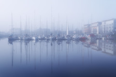 Ghost reflection (Ludovic Cadet Photo) Tags: reflection fog port canon boats bateaux reflet 7d brouillard dunkerque nord 1755f28 vision:mountain=0735 vision:outdoor=0963 vision:clouds=0887 vision:sky=0963