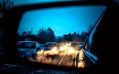 Cold Start (Sky Noir) Tags: morning blue winter cold cars early traffic commute bluehour skynoir