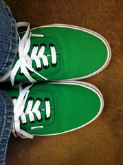 My new green Vans for St Patty's Day (f l a m i n g o) Tags: green march shoes explore vans 16th iphone 2014
