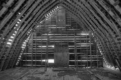 Barn 11 - Copy (Michael P Bartlett) Tags: wood old bw abandoned barn ruins decay farm dirt